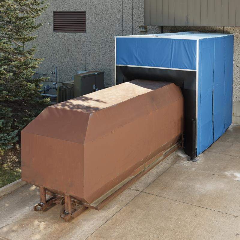 Insulated Compactor Seal surrounds trash compactor