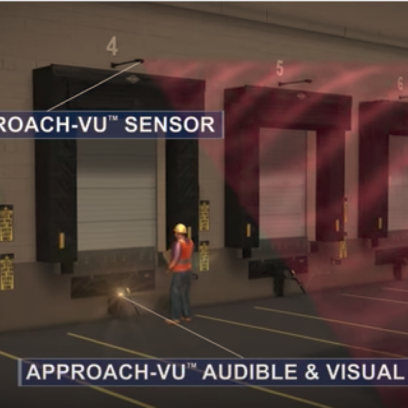 Illustration of Approach Vu sensors at the loading dock