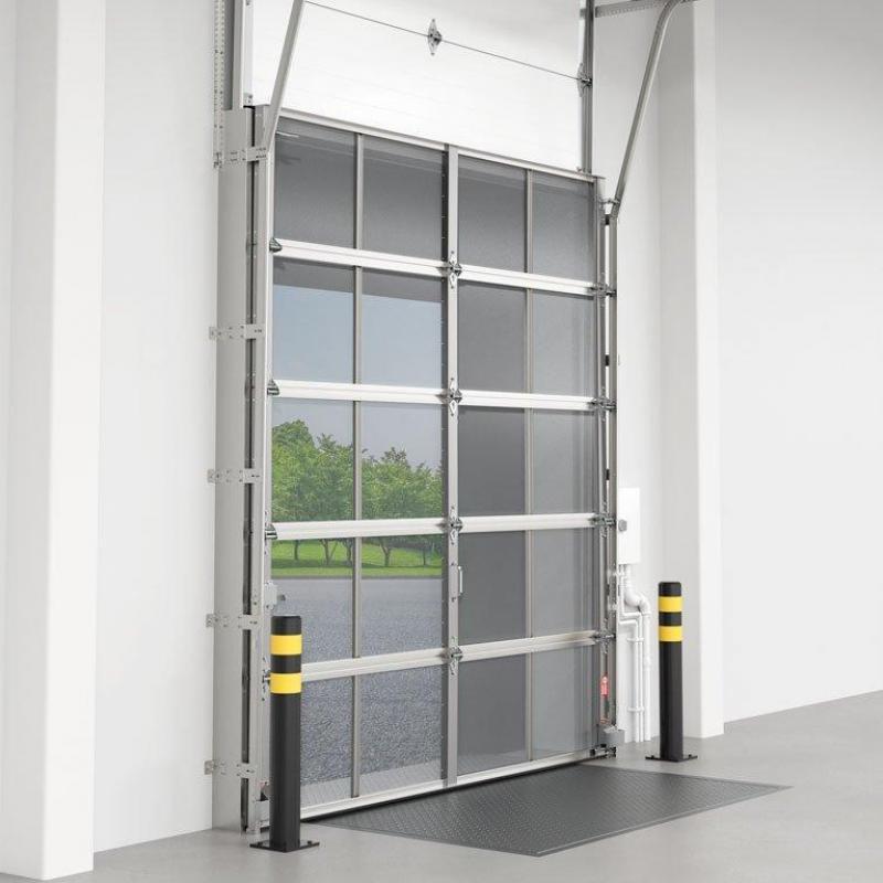 Overhead screen door with bug screen