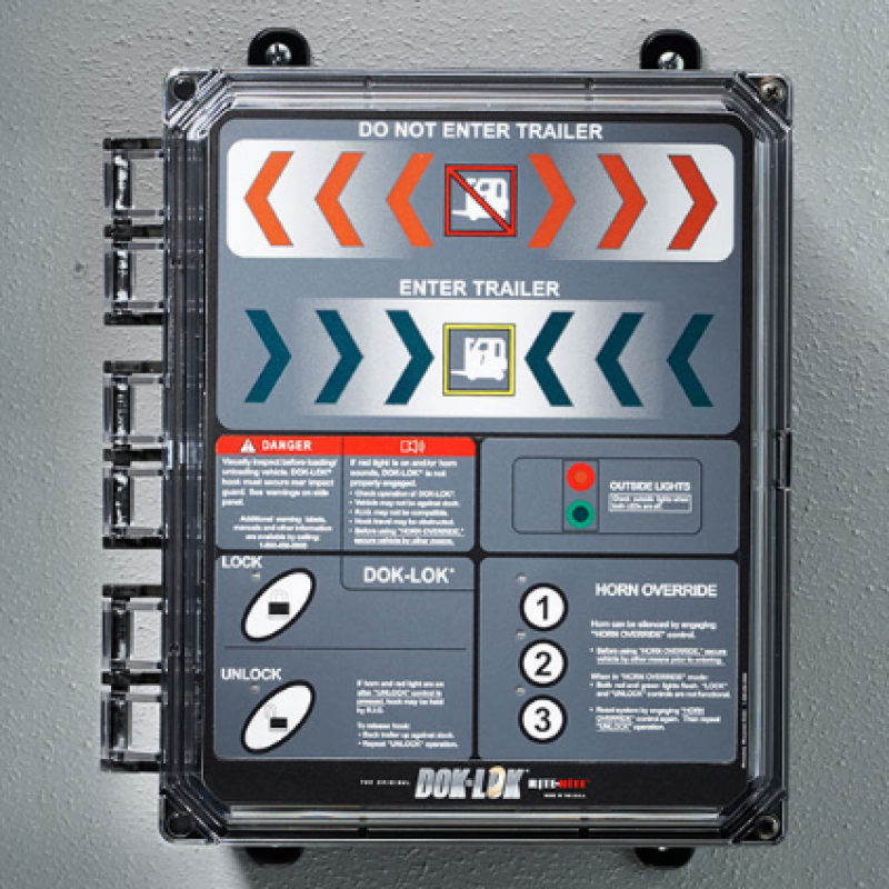 Close-up of Universal Restraint Controller box