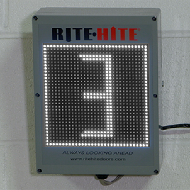 LED Countdown timer installed at doorway