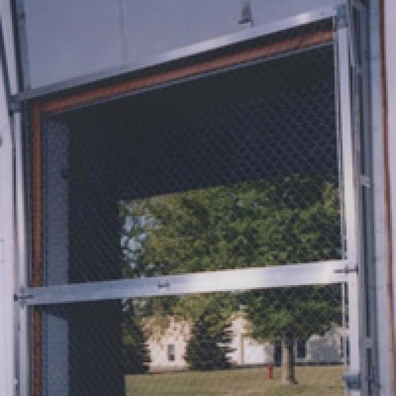 Chainlink Security Door covering loading dock opening