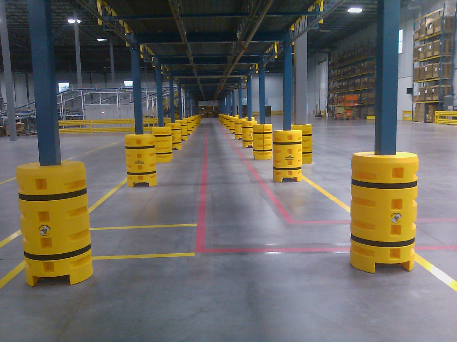 Fork Lift Guarding : Column protectors w e carlson corporation