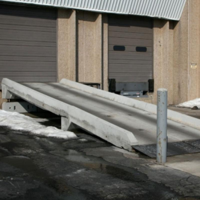 Concrete ramp installed at Loading Dock