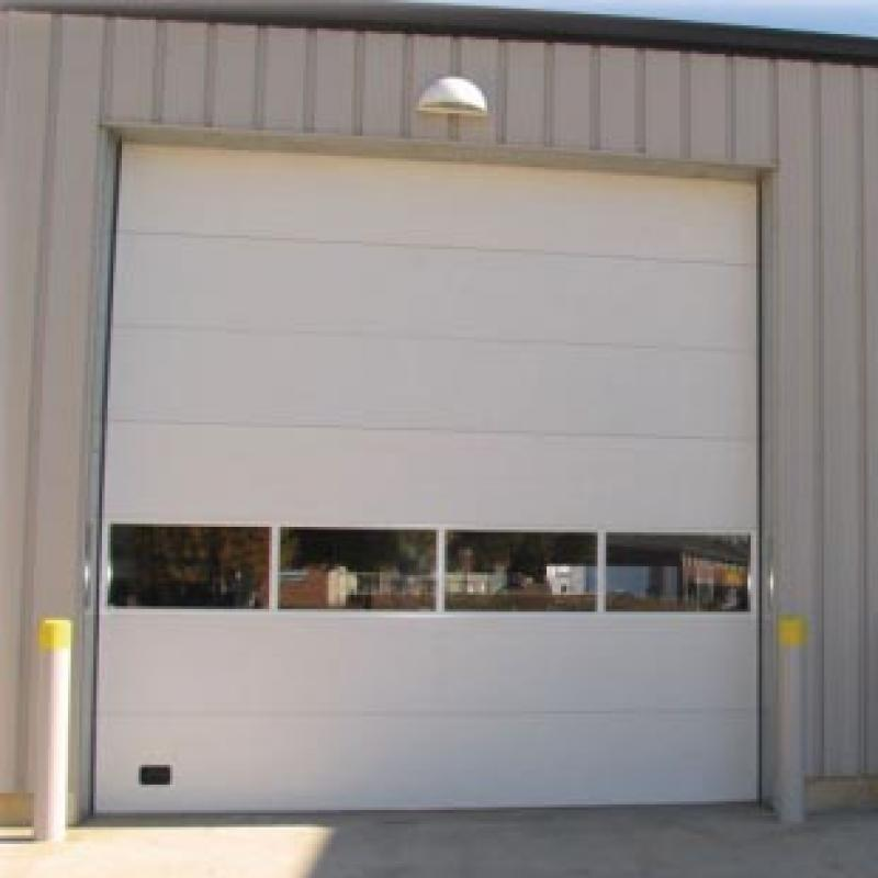 Exterior of Insulated Sectional Overhead Door