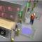 Illustration of Pedestrian Vu light communications system
