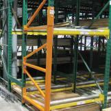 Damotech Rack Repair reinforcement on warehouse racks