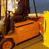 Forklift backing up into Dok-Guardian HD