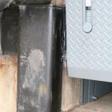 A Dok Saver Dock Bumper in use at the loading dock