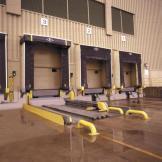 ThinMan Truck Leveler installed outside loading dock
