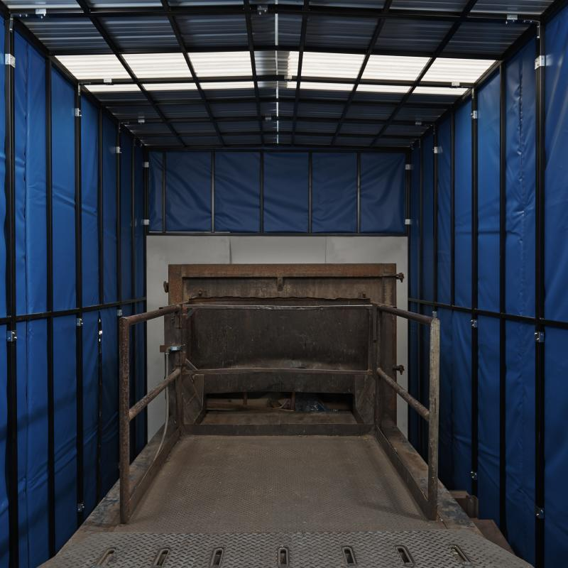 Interior view of Insulated Compactor Enclosure
