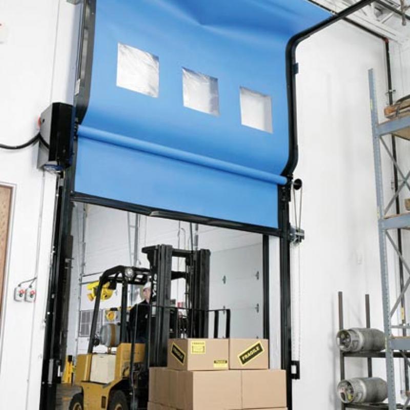 FasTrax Industrial Door in the open position