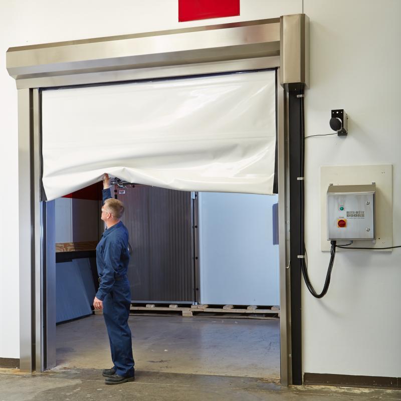LiteSpeed Clean Door showing breakaway feature