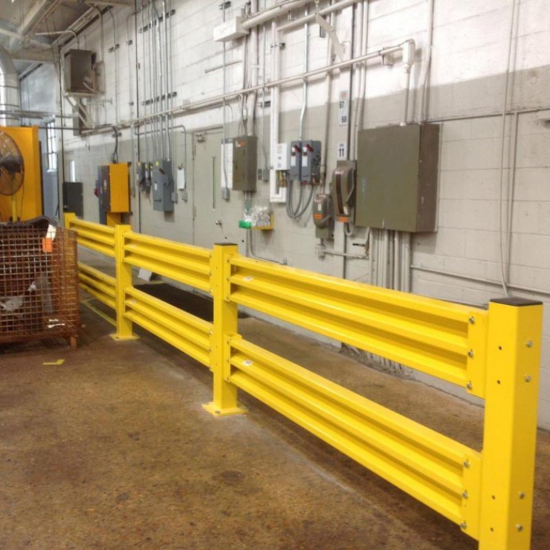 GuardRite Steel protecting control panels in a warehouse