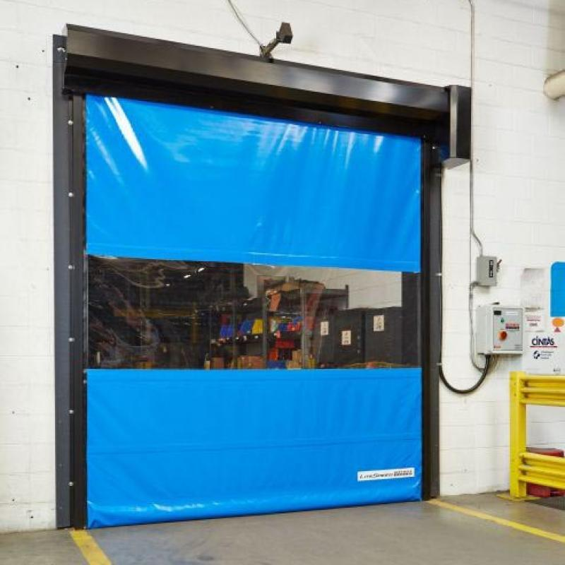 Litespeed High Performance Door with vision panel in closed position