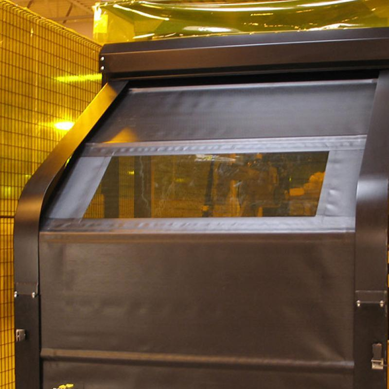 RollTop Automated Barrier Door in closed position