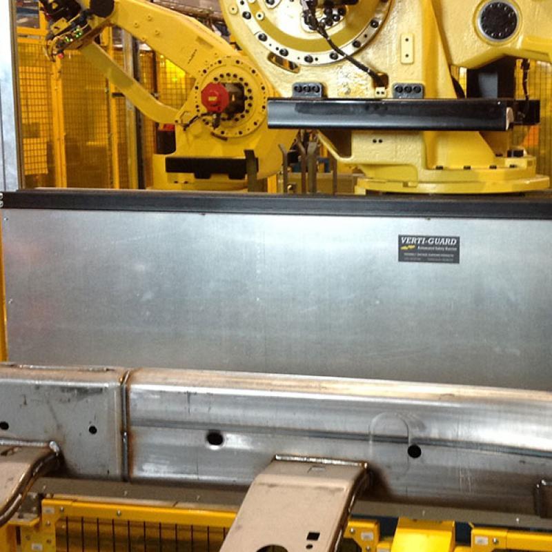 Vertiguard Automated Barrier Door's galvanized panels