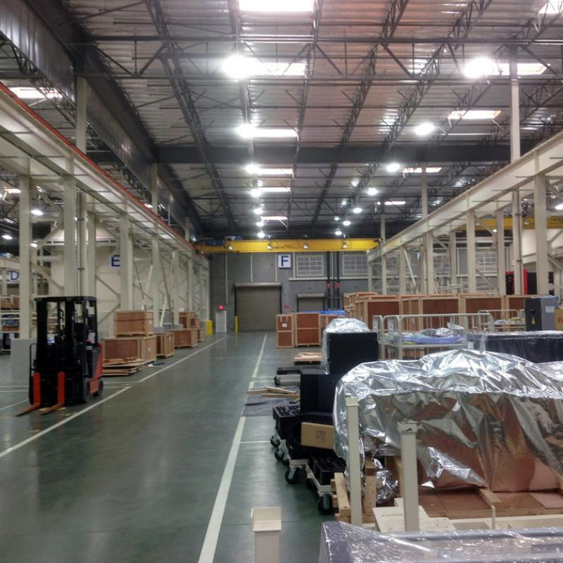 Warehouse before installation of Fabric Curtain Walls