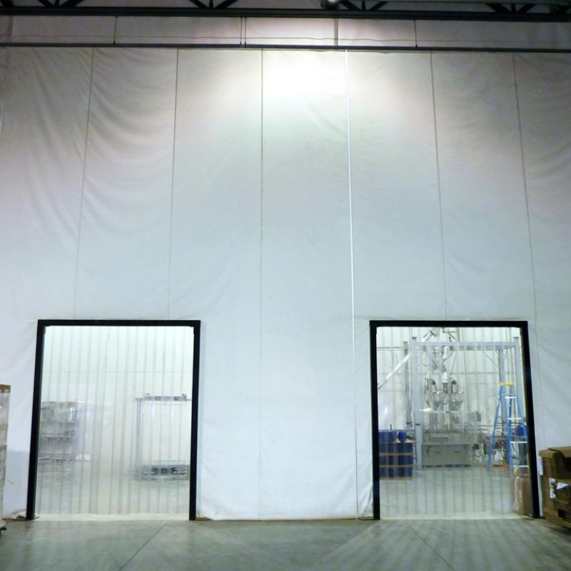 Washdown Curtain Walls with door cut-outs