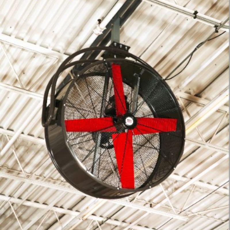 Ceiling-mounted CoolMan HVHS Fan