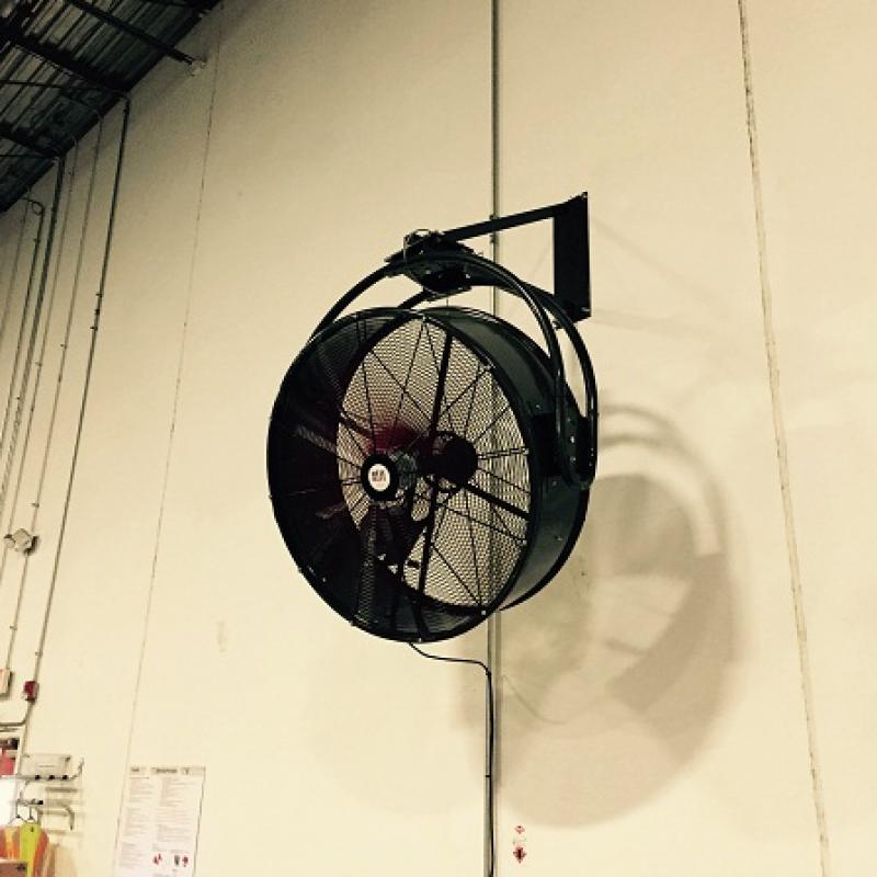 Wall-Mounted CoolMan HVHS Fan