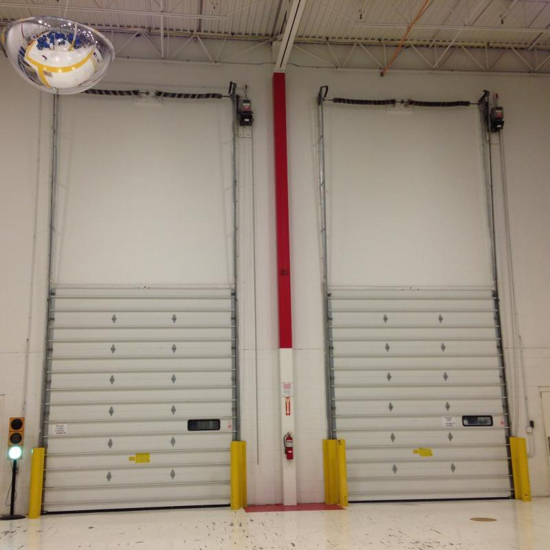 Full-length view of Insulated Sectional Overhead Doors
