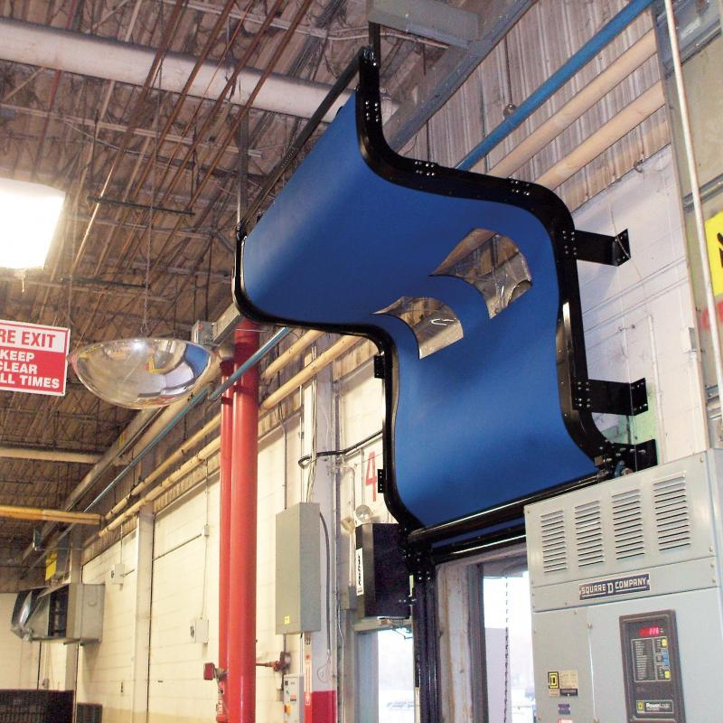Square bend in the FasTrax Industrial Door