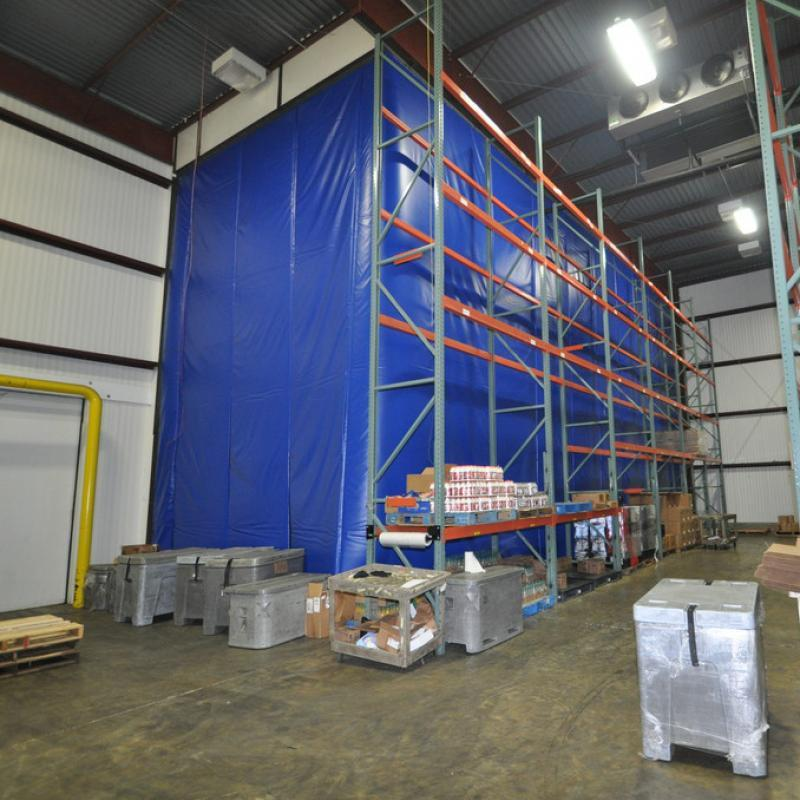 Insulated Curtain Wall separates dock areas