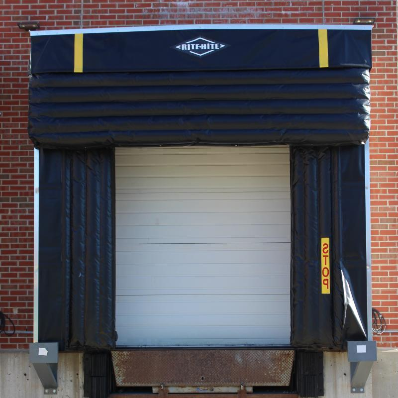 Uni-Dox Inflatable Dock Shelter in use at loading dock bay