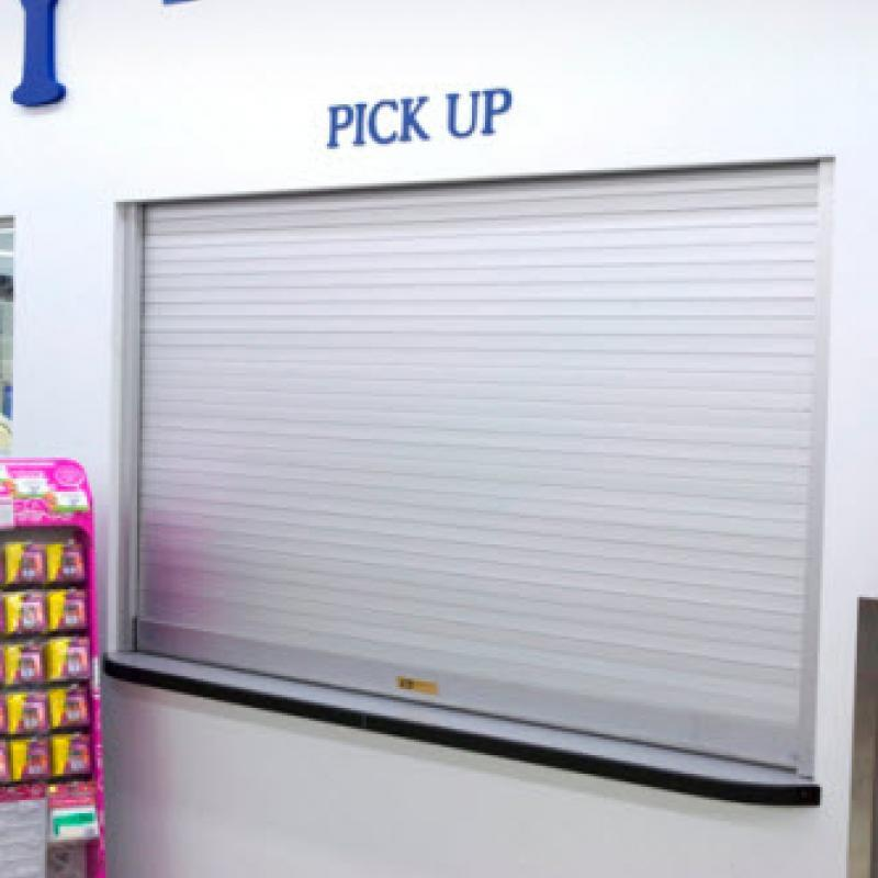 Pick up counter featuring Rolling Counter Shutter Door