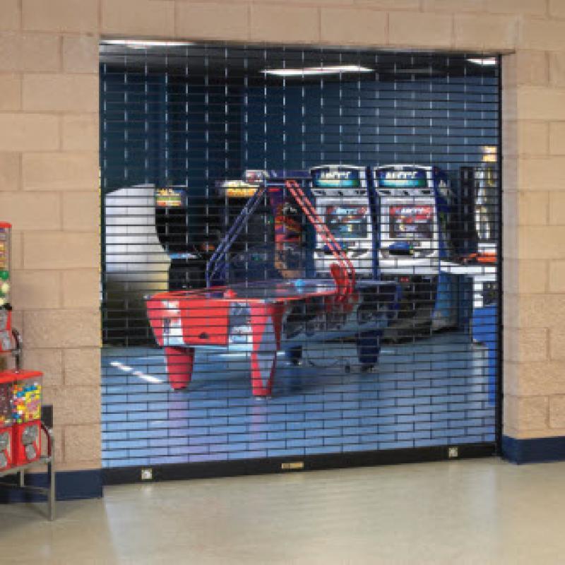 Rolling Grille steel door at arcade