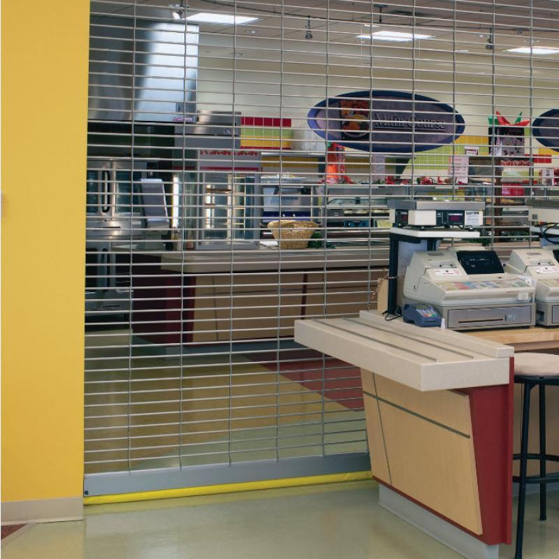 Rolling Grille cage door in concessions