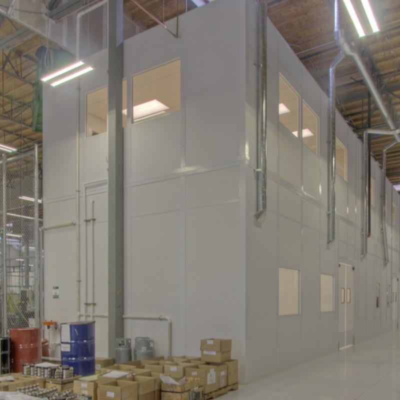 Modular Wall Partitions within a warehouse