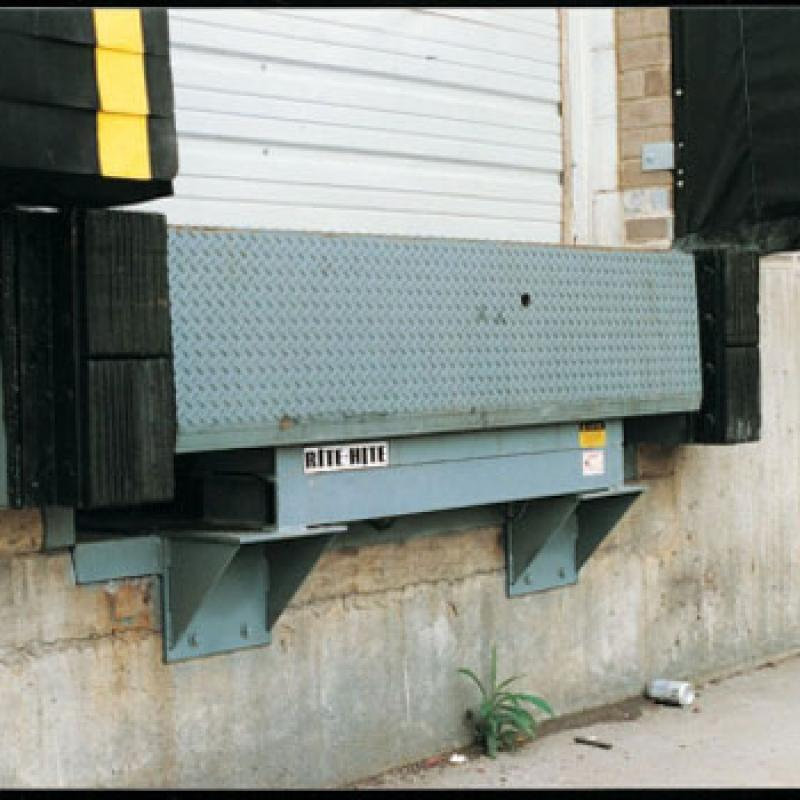 Cantilevered Dock Bumper installed at the loading dock