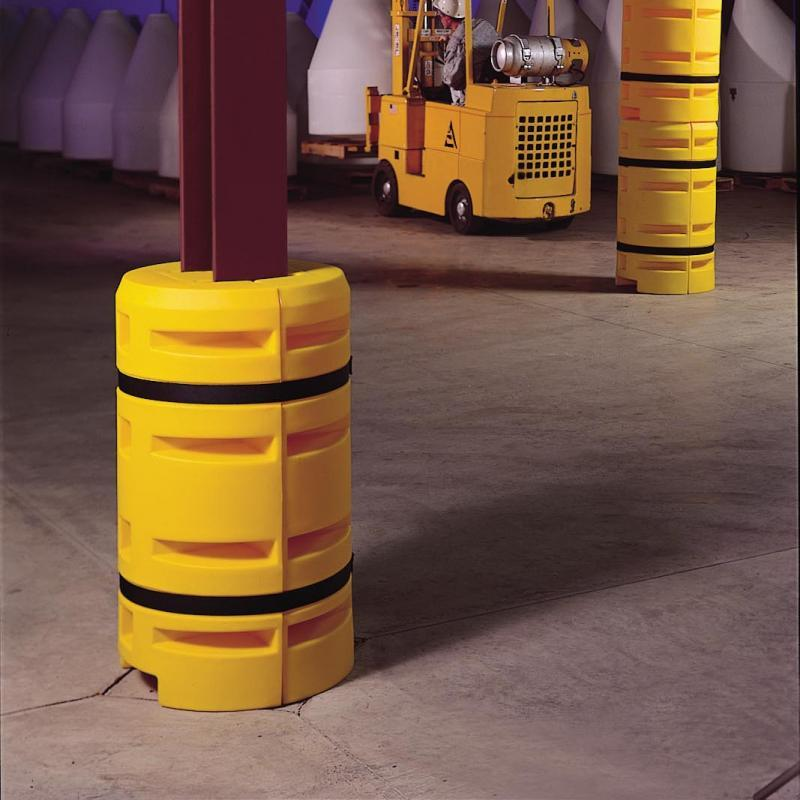 Classic Column Protector protecting the base of a warehouse column