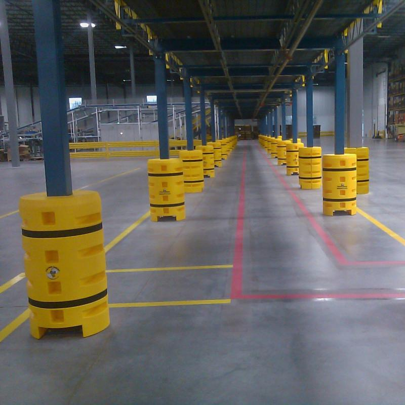Series of Column Protectors guard against forklift traffic