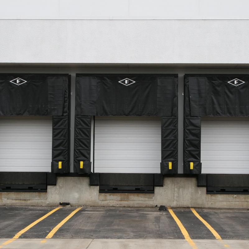 Series of three docks with ComboShelters installed