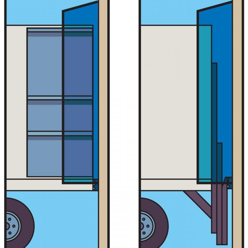 Illustration of ComboShelter side panels