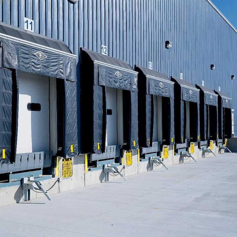 A series of Eliminator Gapmasters installed at a warehouse