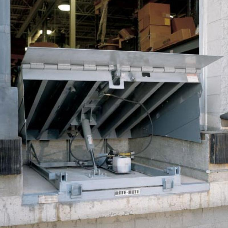 Hydraulic Conversion Kit installed on a Dock Leveler