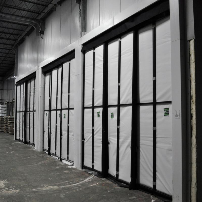 A series of Blast Freezer Curtain Walls