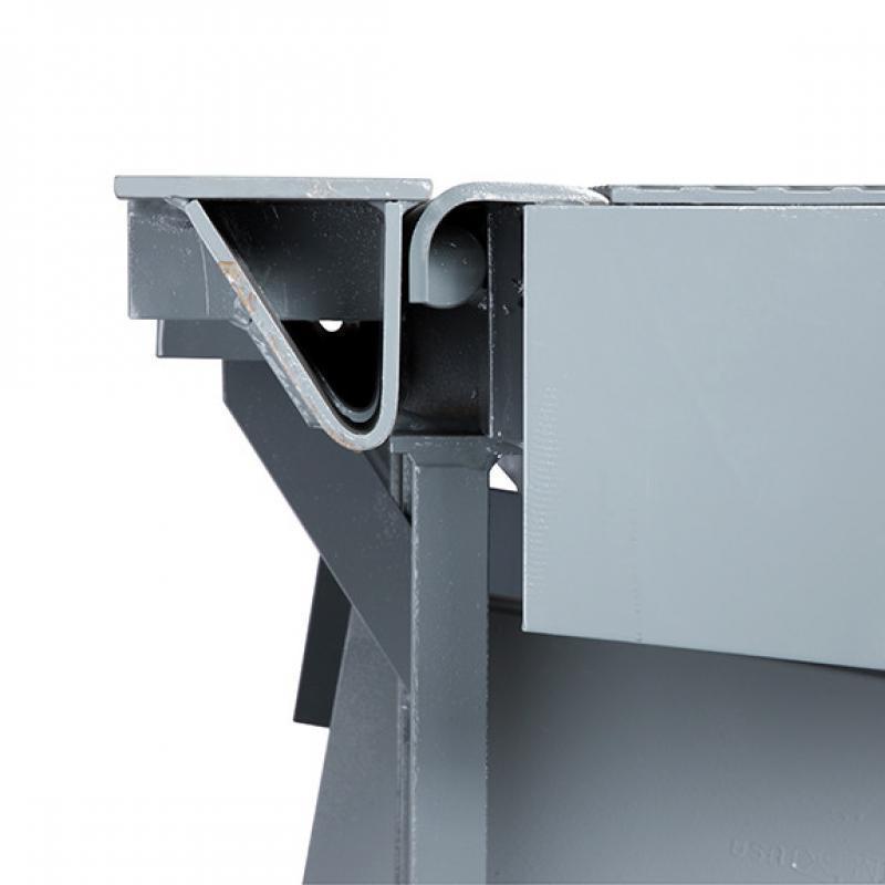 Close-up of dock leveler smooth transition