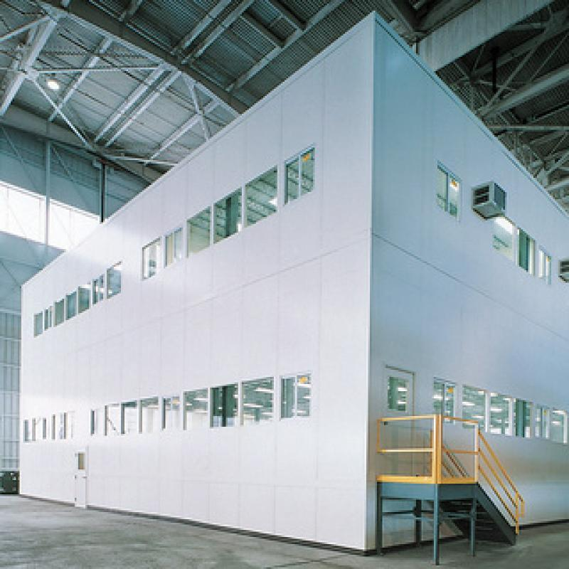 Two-story modular office systems
