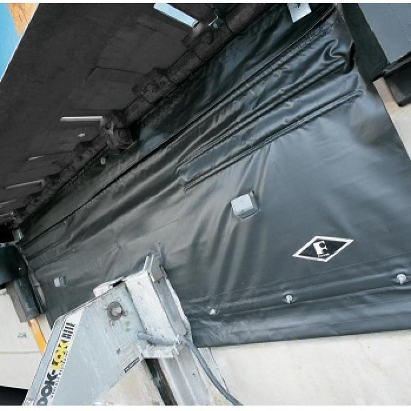 PitMaster Under-Leveler Seal installed below loading dock opening