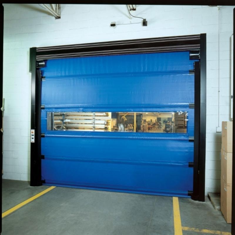 Multi-paneled Trakline Roll Door