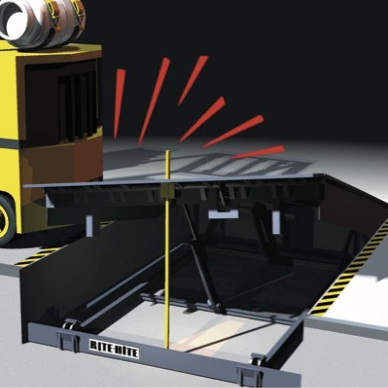 Safe-T-Strut experiencing side impact