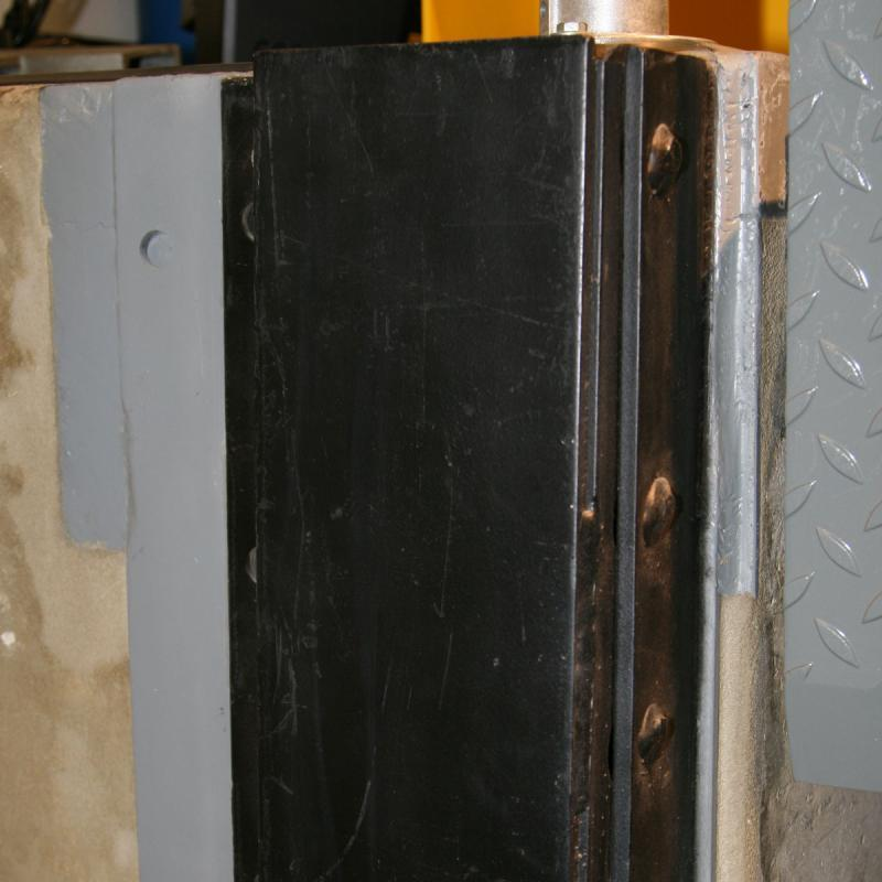 Closeup of the Steel Faced & Laminated Dock Bumper