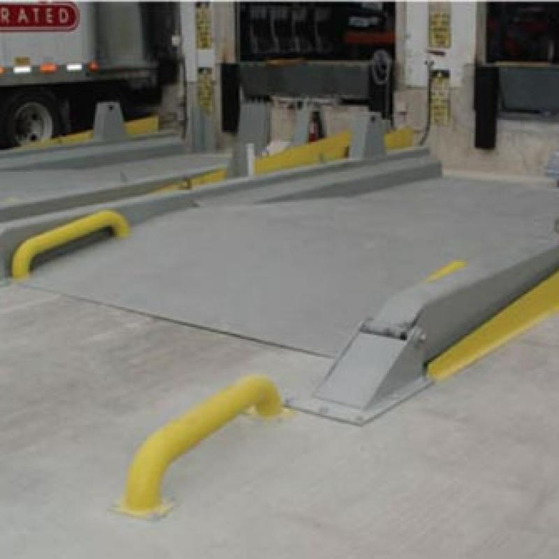 Z-Deck Truck Leveler installed in front of loading dock